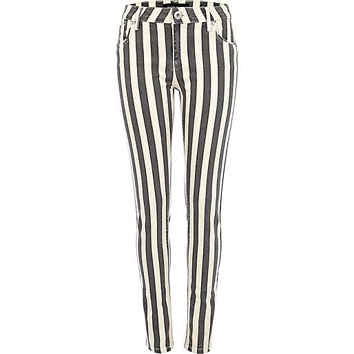 Black stripe Amelie superskinny jeans