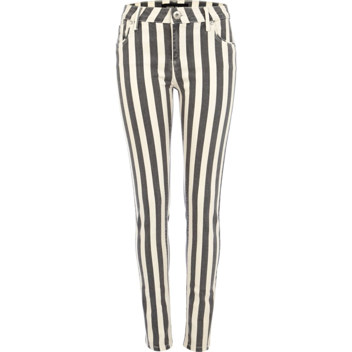 Black stripe Amelie superskinny jeans
