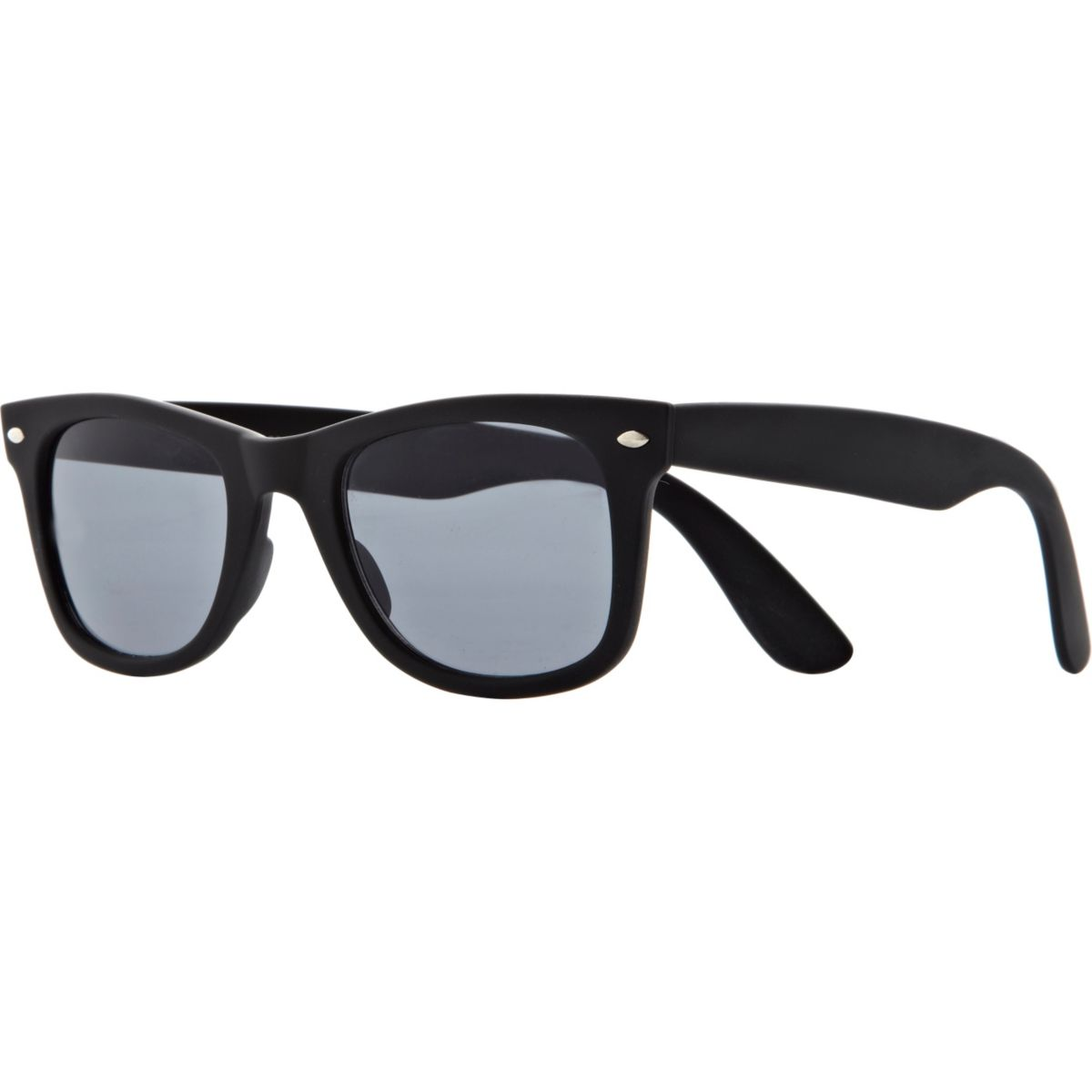 Black matte retro sunglasses