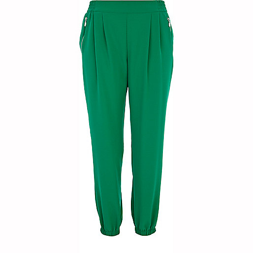 Green smart soft jogger pants