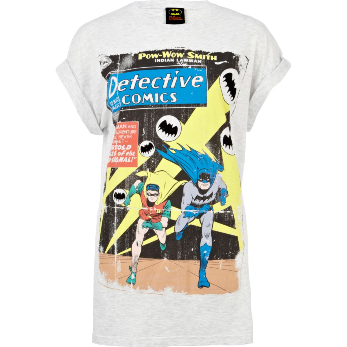 Grey Batman graphic print t-shirt