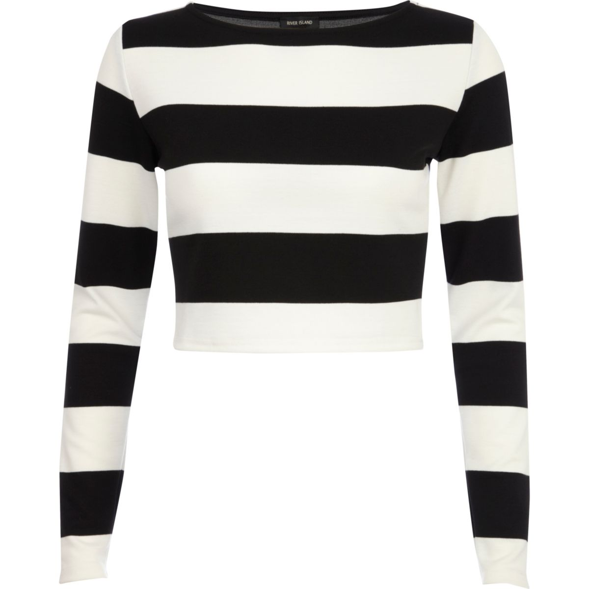 Petite Black Striped Frill Sleeve Detail Crop Top. Nail the monochrome trend this festival season with this crop top. Featuring a black and white striped fabric with frill detailing, what's not to love? Complete this look with denim shorts, lace up boots and a baker boy hat.