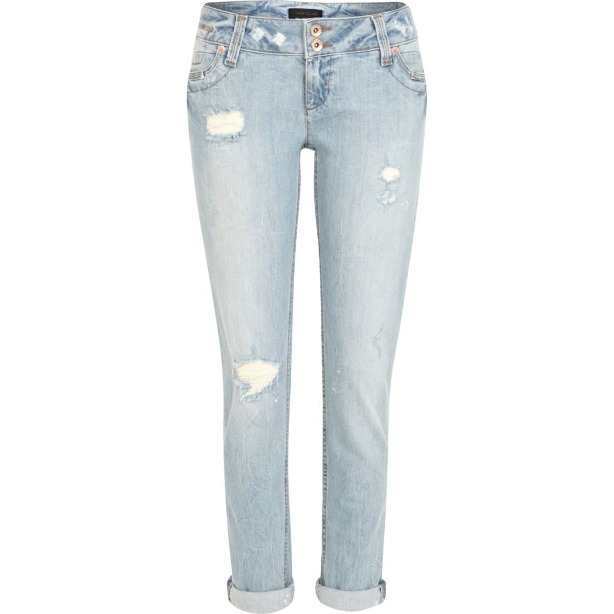Light wash ripped Matilda skinny jeans