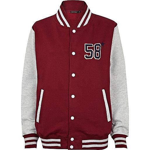 Red NYC varsity jacket