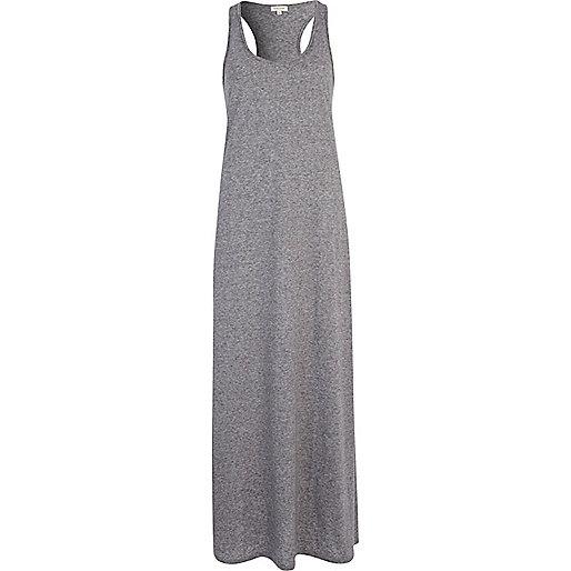 Grey racer back maxi dress