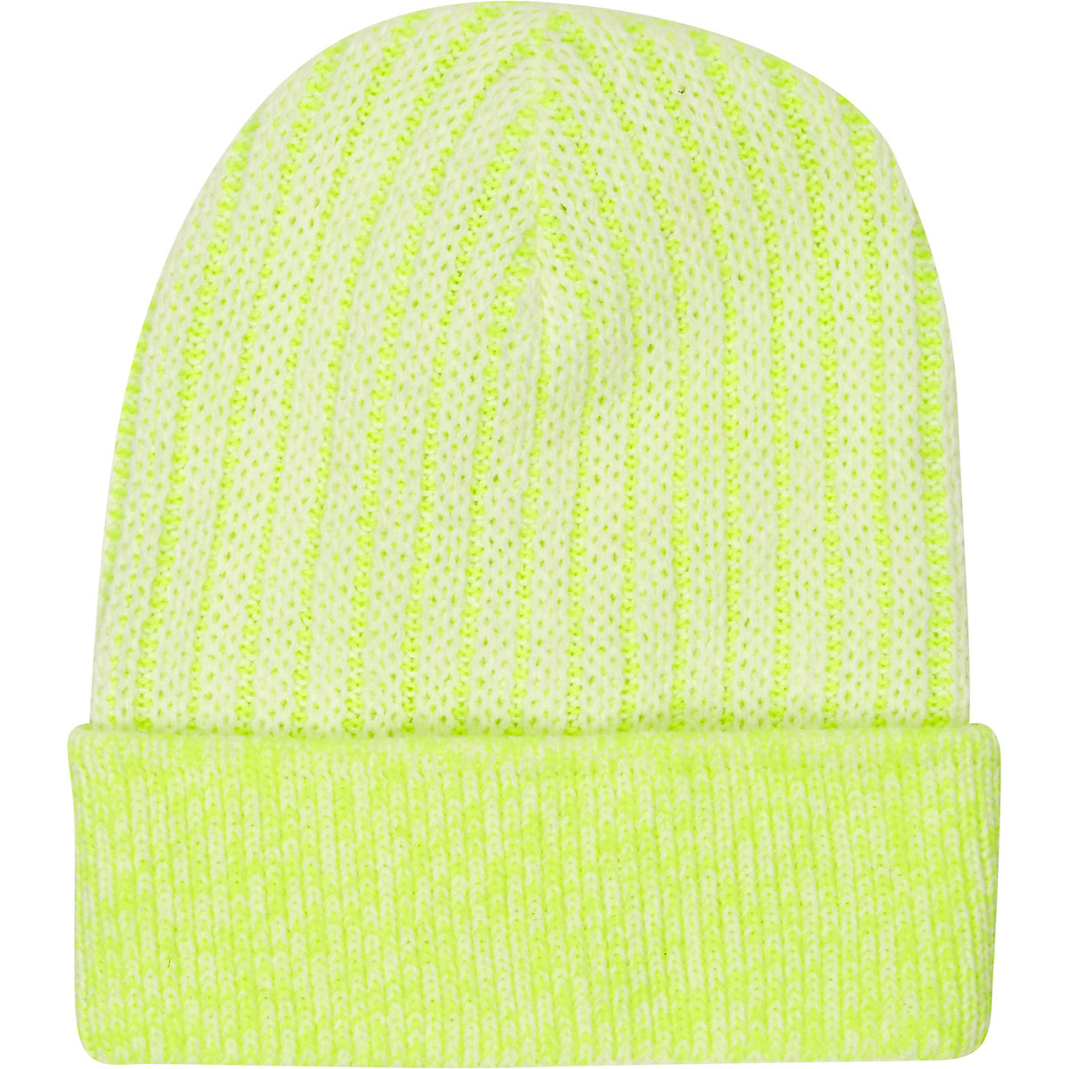 Yellow bright rib knitted beanie hat - Hats - Accessories - women c25c1241aec