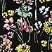 Black floral print cropped t-shirt