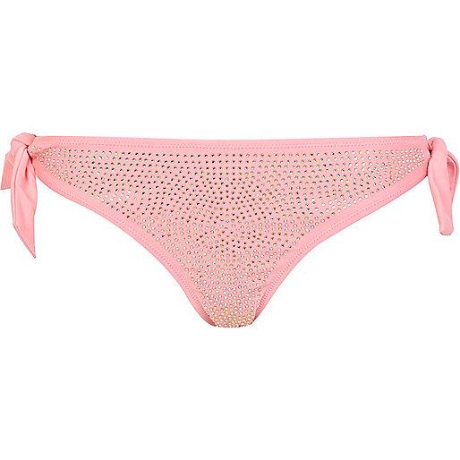 Candy pink bikini bottoms
