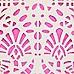 Pink laser cut bikini bottoms