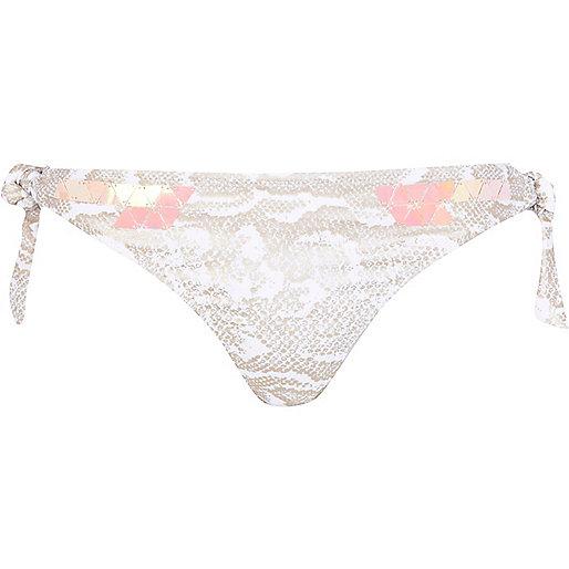 Snake design bikini bottom