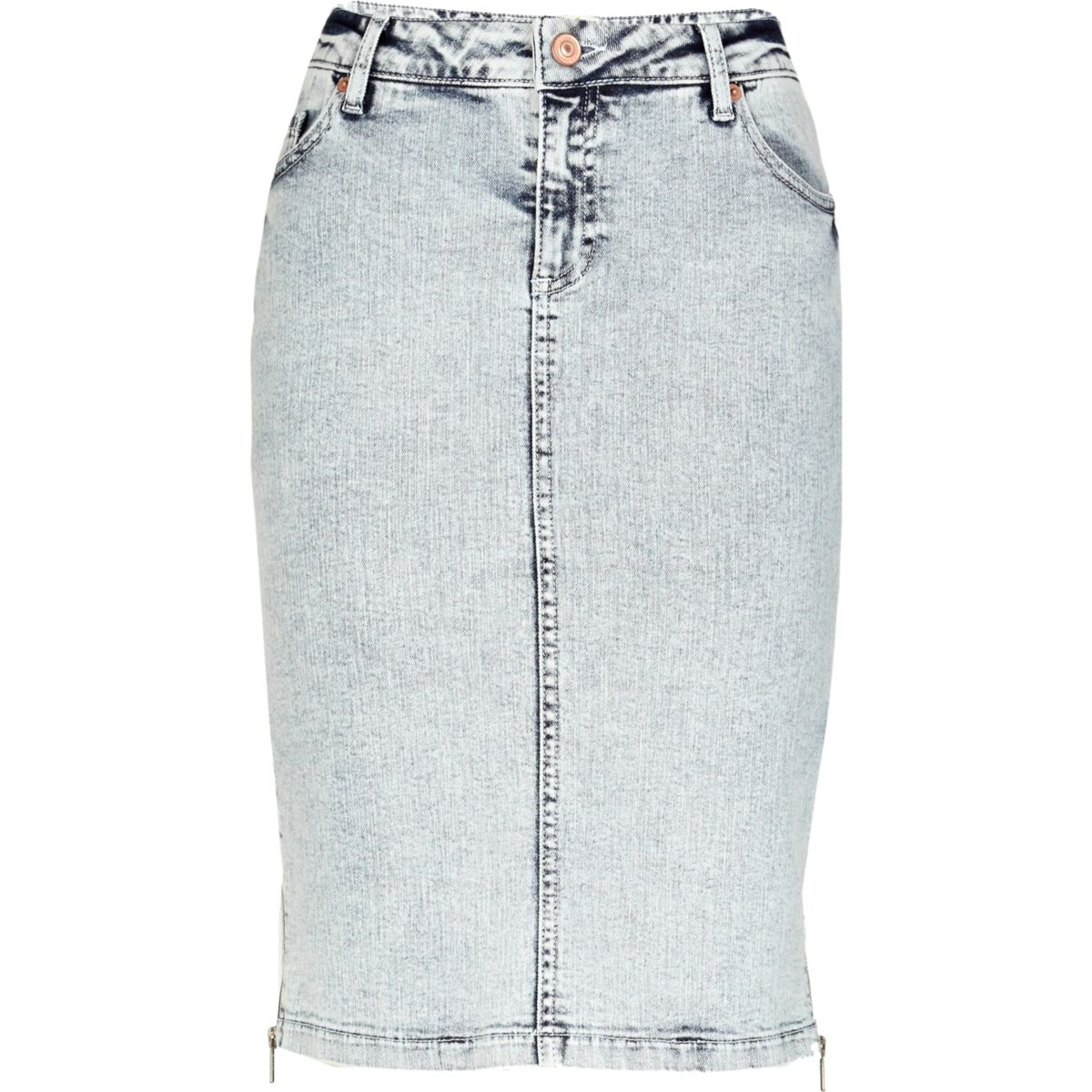 light acid wash denim pencil skirt skirts sale
