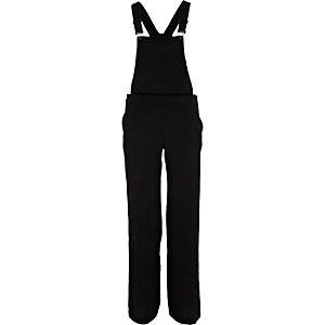 Black smart pant overalls