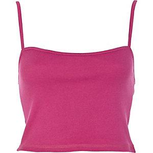 Purple rib cropped vest