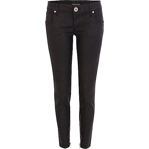 Black coated Amelie superskinny jeans - jeans - sale - women