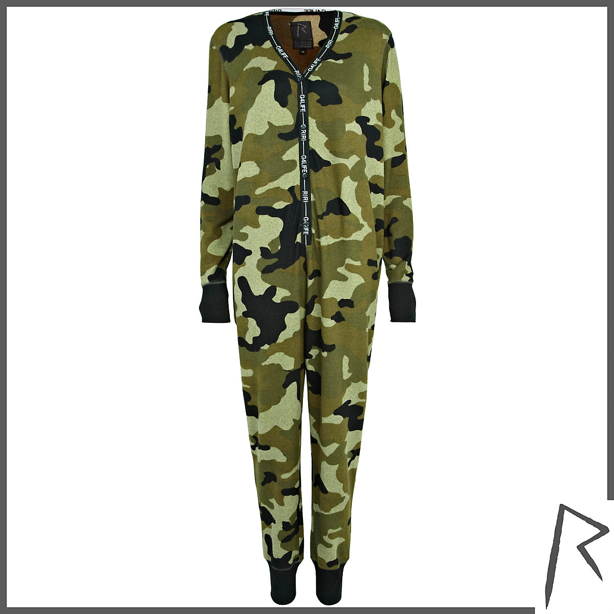 Khaki Rihanna camo all-in-one