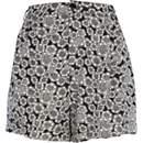 Black hexagon print high waisted shorts
