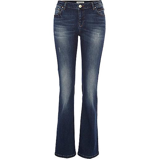 Mid wash Alice kick flare jeans