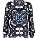 Black Jaded London flower print sweatshirt