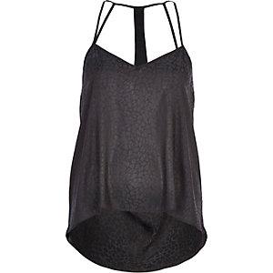 Caraco noir avec dos drapé