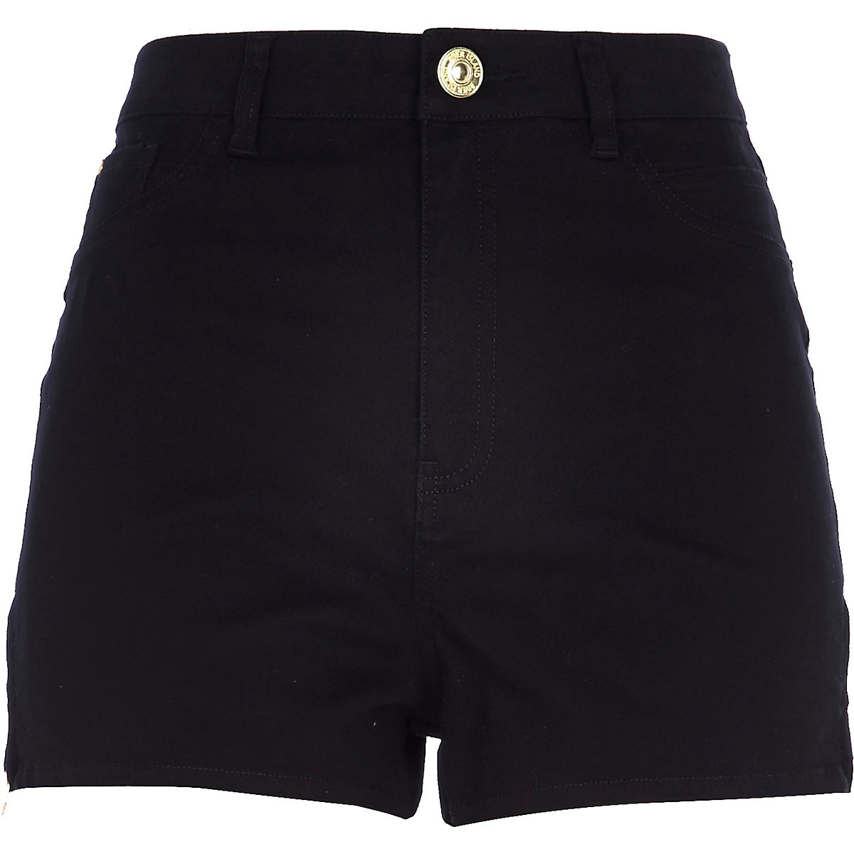 Short Nori en jean noir taille haute - Shorts - Promos - Femme da853151016