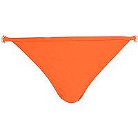 Orange jewel strap bikini bottoms