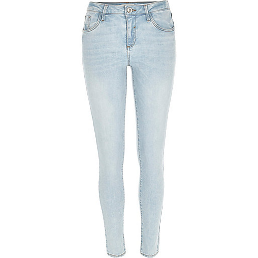 Light wash Amelie superskinny jeans