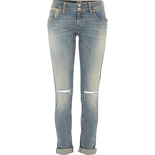 Light wash ripped knee Matilda skinny jeans