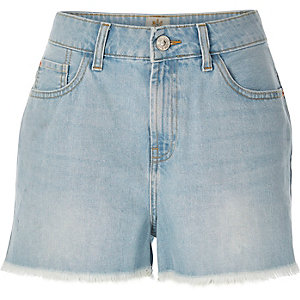 Light wash Darcy denim shorts