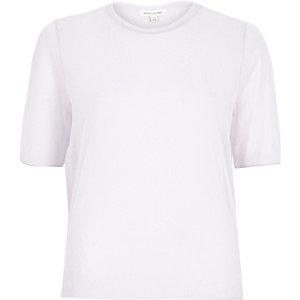 Light purple sheer T-shirt