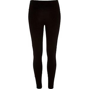 Zwarte korte legging met hoge taille