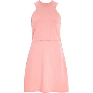 Pink sleeveless A-line dress