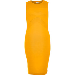Orange open back bodycon dress