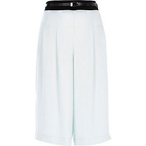 Jupe-culotte habillée bleu clair