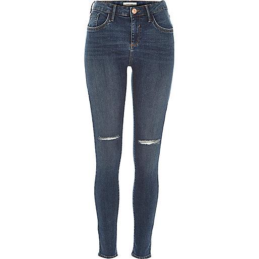 Dark wash ripped Amelie superskinny jeans