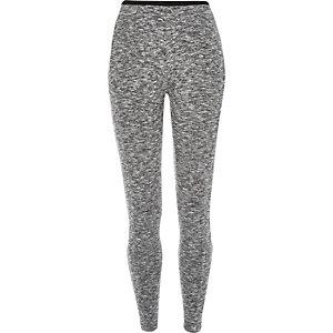 Grey marl high waisted leggings