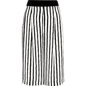 White stripe culottes