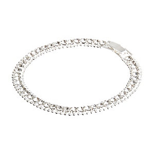 Silbernes, strassverziertes Armband