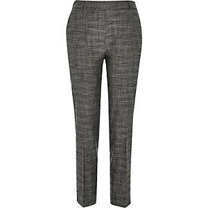 Dark grey tailored cigarette pants