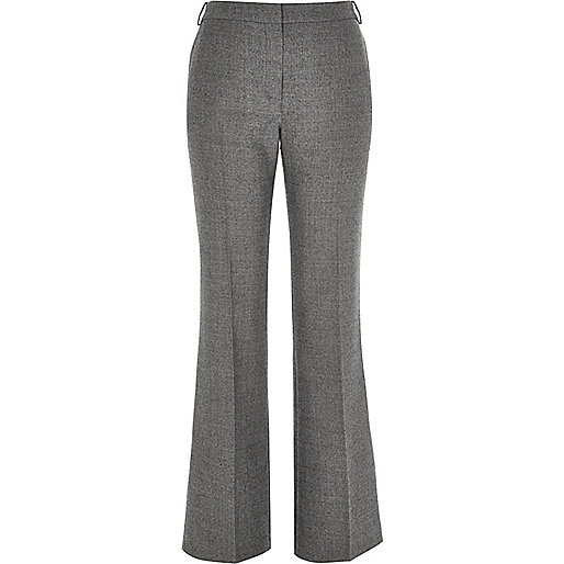 Grey RI Studio wool-blend flare trousers