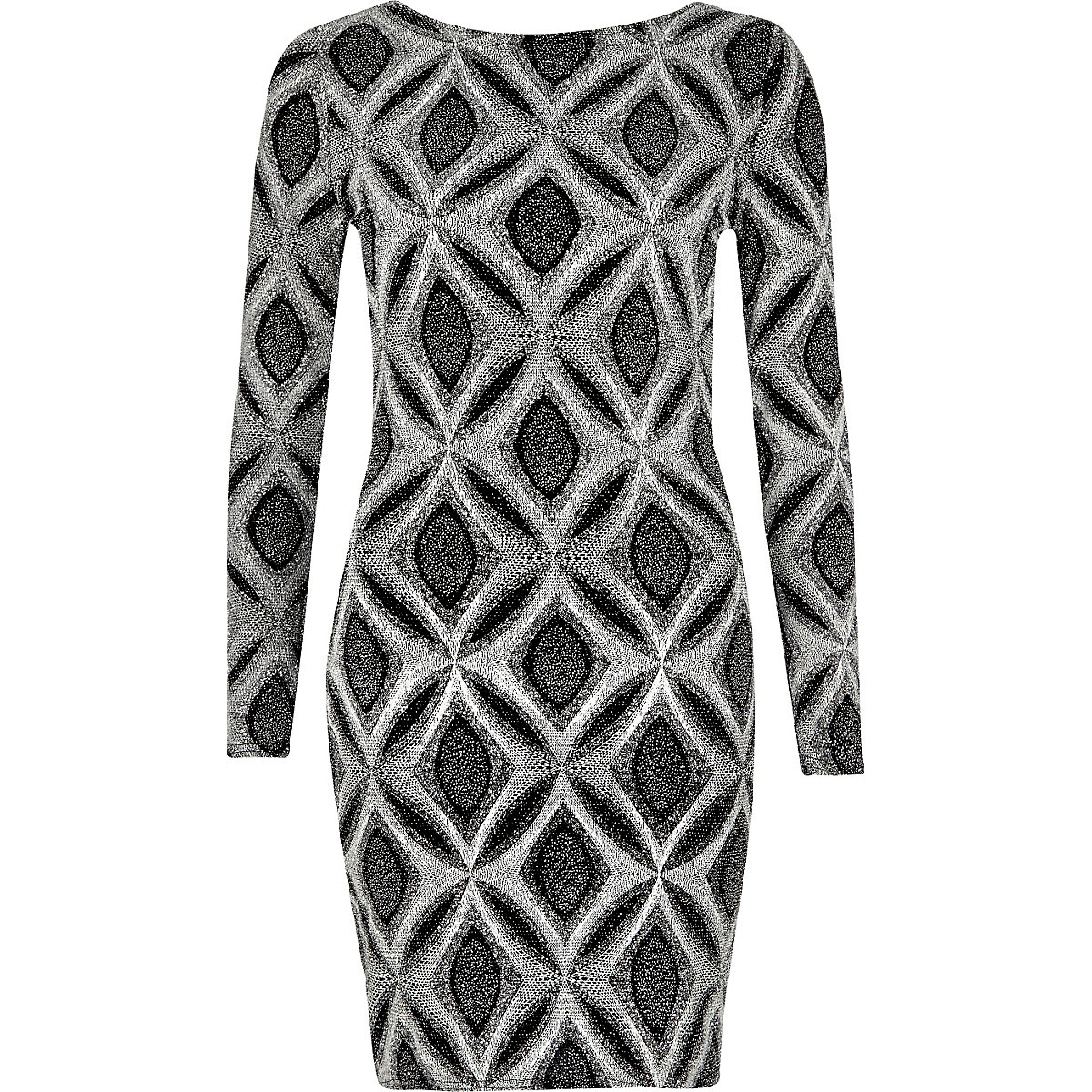 79160209ee Silver sparkly metallic bodycon dress - Bodycon Dresses - Dresses - women