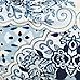Blue floral print tie side bikini bottoms