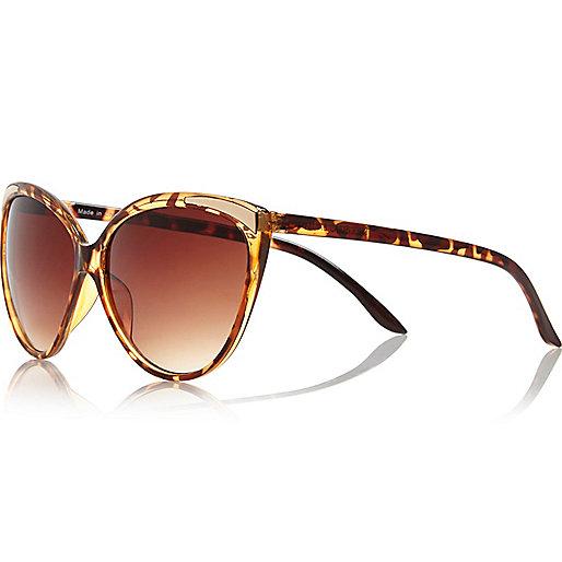 Braune Sonnenbrille in Schildpatt-Optik