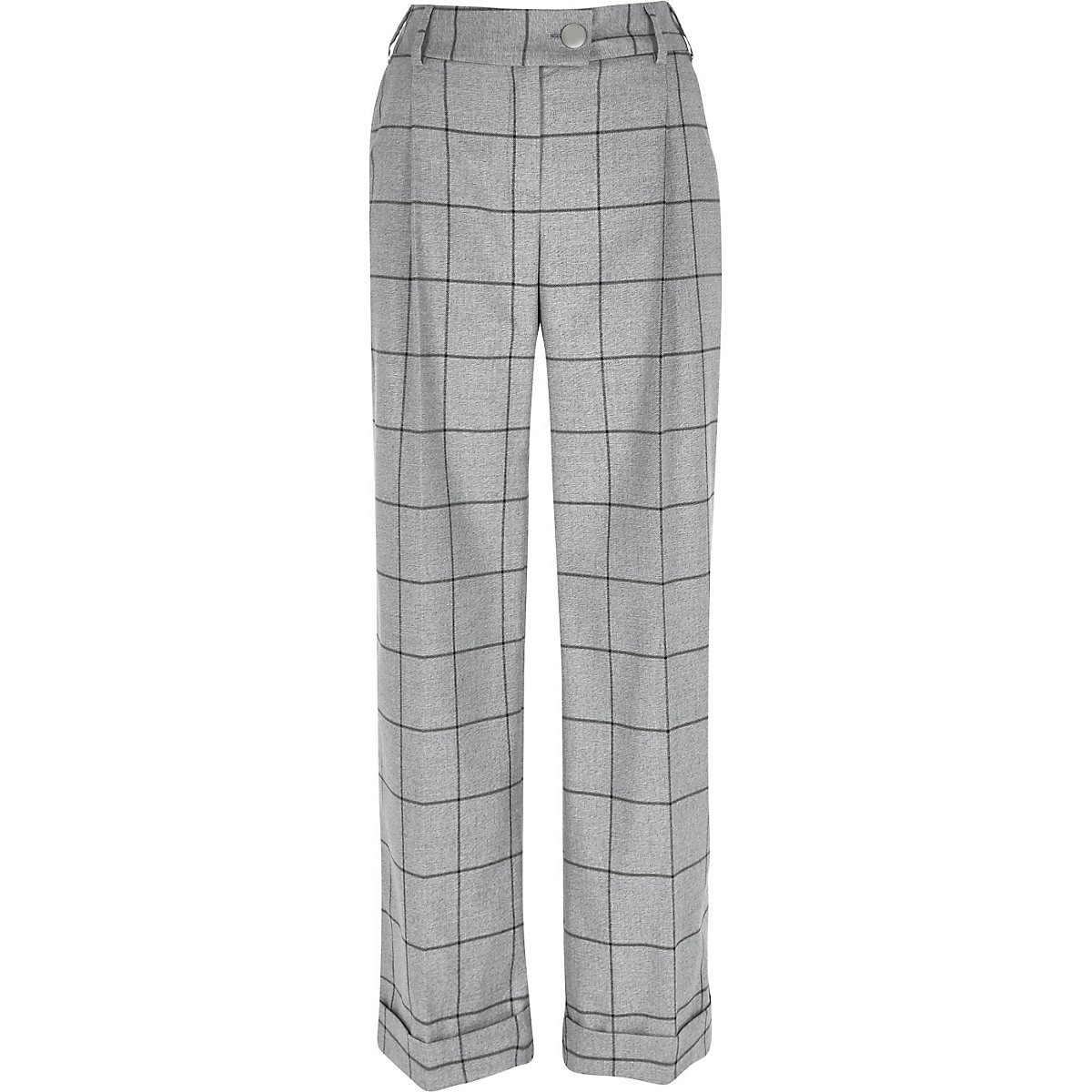 a12ccd645f Grey check wide leg trousers - Wide Leg Trousers - Trousers - women