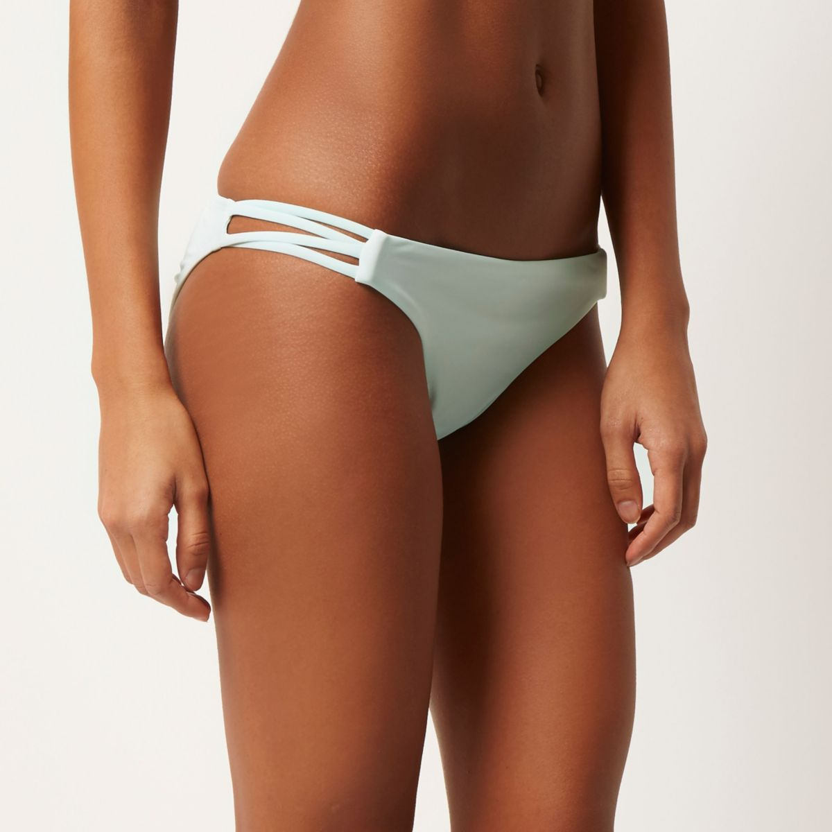 Light green low rise bikini bottoms