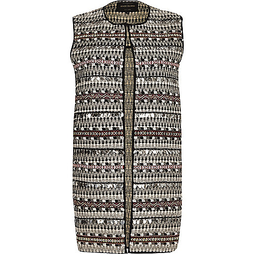 Black patterned gilet