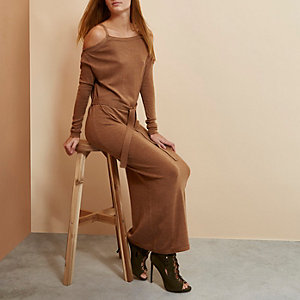 Brown RI Studio merino wool sweater dress