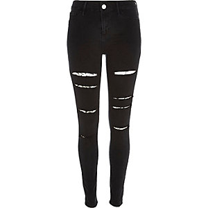 Molly – Schwarze gerippte Jeggings