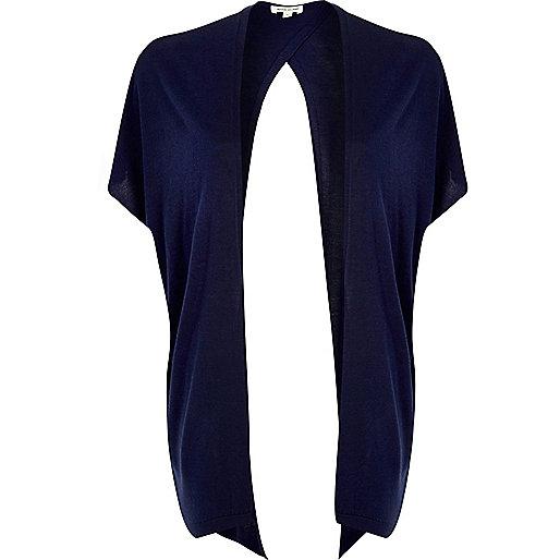 Dark blue split back cardigan