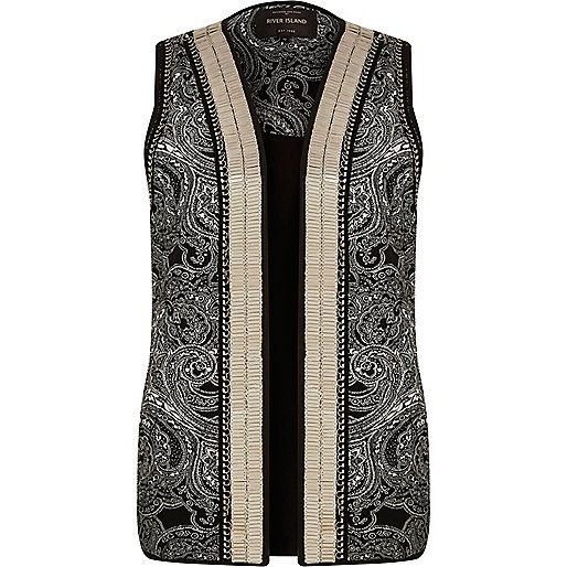 Black embellished gilet