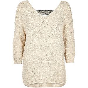 Cream slouchy sweater